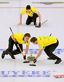 European Curling Championships. Swedish men´s curling team participating in the 2011 European Curling Championships,. Photographed in Moscow, Russia