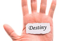 Destiny word in hand