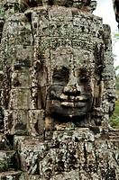 Giant face at Bayon Temple, Angkor Wat, Cambodia