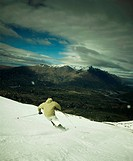 Skier on Coronet Peak