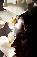 Woman and calla