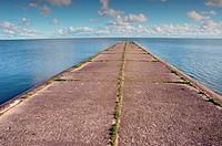 sea bay pier perspective