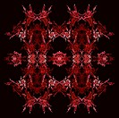Abstract Symmetrical Fractal Background
