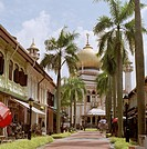 Sultan Mosque in the Arab Quarter, or Kampong Glam, of Singapore