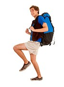 young man _ backpacker