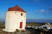 Greece, Cyclades islands, Amorgos, Hora or Chora city