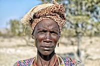 Portrait of a woman - Kaokoveld, Kaokoland. Namibia.