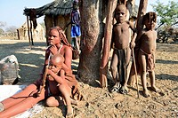 Himba tribe - Kaokoveld, Kaokoland,  Namibia