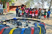 Children at Mayana preschool - Rundu, Kavango region. Namibia