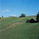 Playing field on a hill