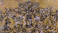 vintage english tea metal box background