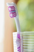Close_up of toothbrush