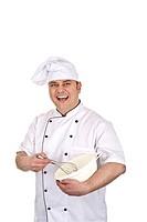 Koch beim zubereiten