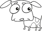 cute doggy for coloring book