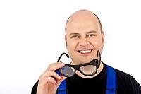 Bauarbeiter mit Schutzbrille