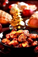 Hot chicken wings for Christmas