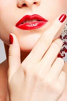 beautiful woman´s manicure
