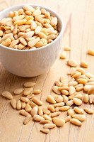 pine nuts in bowl