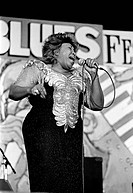 FEMALE BLUES SINGER performs at the MONTEREY BAY BLUES FESTIVAL _ MONTEREY, CALIFORNIA