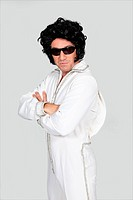 Man dressed up in an Elvis costume