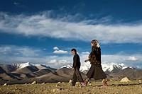 Shepherd kids, Karakul Lake, Tajikistan