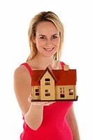 Lady Selling House Concept