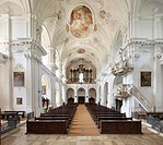 Interior view, Schoenenberg, Ellwangen, Bavaria, Germany