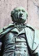 Statue of Karl Sigmund Franz Freiherr vom Stein zum Altenstein, 1770-1840, Prussian politician, detail view of the equestrian statue for the Prussian ...