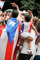 NEW YORK CITY, USA _ JUNE 10: The annual Puerto Rican Day Parade in NYC honoring the inhabitants of Puerto Rico and all people of Puerto Rican birth o...
