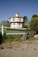 Octagonal blockhouse at Fort Edgecomb..... Located in Edgecomb, Maine USA, which is on the New England seacoast. Notes: This fort was built in 1808_18...