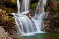 Waterfall of Penaladros, Cozuela, Burgos, Castilla y Leon, Spain