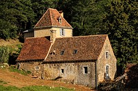 Old stone farmhouse, Dordogne, Perigord, Aquitaine, France