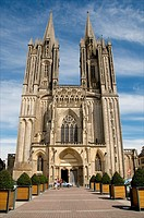 Notre Dame cathedral 14th c Coutances, Cotentin, Normandy, France , Manche, 50