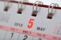 May of 2012 calendar