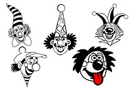 vector set clown on white background