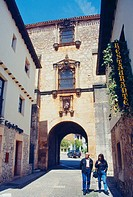 Arco del Archivo. Covarrubias, Burgos province, Castilla Leon, Spain