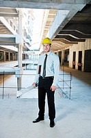 business man Architect engineer manager at construction site project