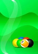 Pool balls vector
