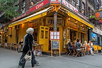 New York City, NY, USA, Outside Italian Restaurant, Bleecker Street in Greenwich Village