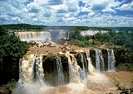 The Iguassu Falls  Brazil are waterfalls of the Iguazu River on the border of Brazilian State Paraná and Argentine Province Misiones  The falls divide...