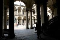 accademia di belle arti di brera, milano, lombardia, italia