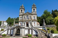 Igreja do Bom Jesus from Terreiro de Moises , Santuario do Bom Jesus do Monte, Good Jesus of the Mount sanctuary, Tenoes, Braga, Cavado, Norte, Portug...