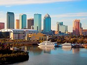 Tampa Florida City Skyline FL