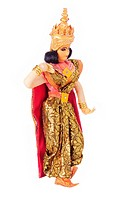 Thai Dancer Figurine on White Background