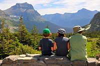 View from Logan Pass Visitor Center Glacier National Park Montana MT US