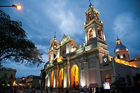 Iglesia Catedral, the main cathedral on 9 julio square,Salta city, Argentina