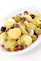 salad with potatoes olives and capers