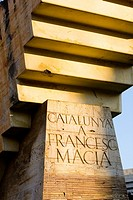 Francesc Macia monument in Plaza Catalunya Barcelona, Spain