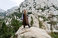 Shaolin Monk Shi De Jian and the San Huang Zhai Monastery on the Song Mountain, China