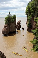 Canada, New Brunswick, Atlantic Coast, Bay of Fundy, Chocolate River, Hopewell Rocks